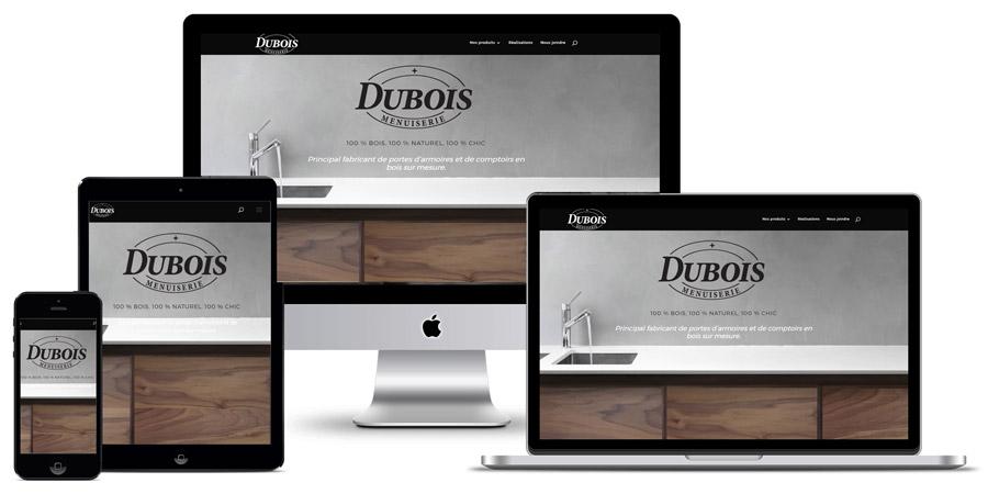 menuiserie dubois création du site internet
